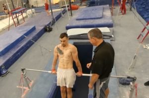 Colin Van Wicklen Highbar Training
