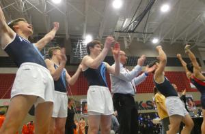 Kingwood cheering on Christopher Kuzmickas