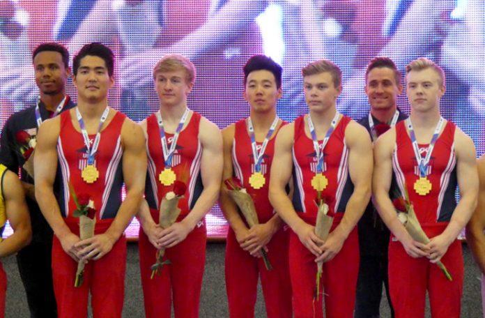 US Men's Gymnastics Team Taqiy Abdullah-Simmons