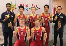 US Men gymnastics Strike Gold at 2018 Pan American Championships