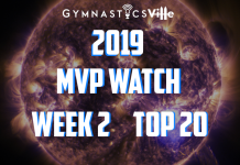 2019 mvp watch college gymnastics week two