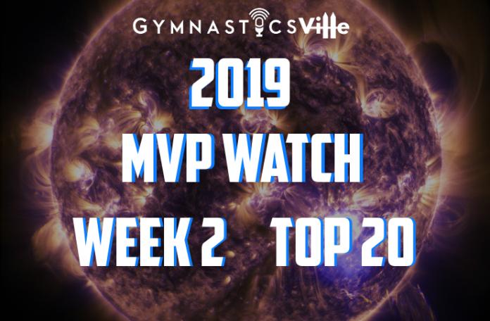 2019 mvp watch college gymnastics week two
