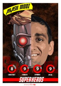 Akash Modi-SUPER HERO PLAYING CARD MODI STAR LORD