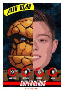 Alex Diab SUPER HERO PLAYING CARD