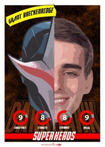 Grant Breckenridge-SUPER HERO PLAYING CARD