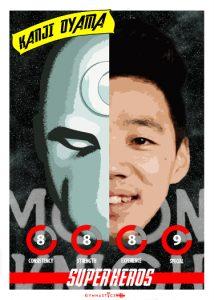 Kanji Oyama SUPER HERO PLAYING CARD
