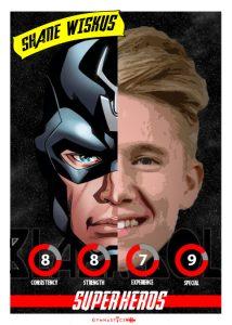 Shane Wiskus SUPER HERO PLAYING CARD